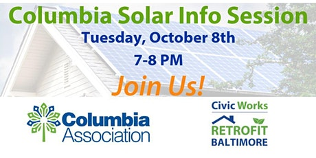 Columbia Solar Info Session - Join Us! tickets
