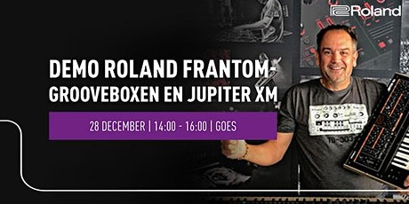 Demo Roland Grooveboxen en Jupiter XM op 28 december bij Bax Music Goes tickets