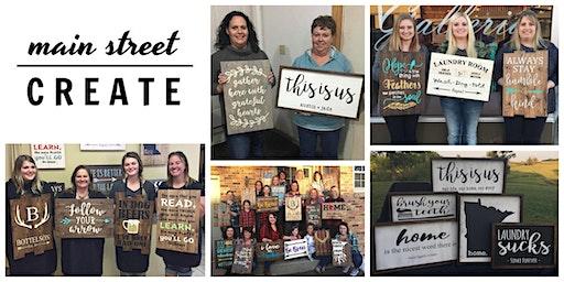 Main Street Create | Farmhouse/Pallet Sign Class | December 14 - 10am
