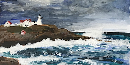 Paint a Stormy Sea Landscape with Acrylics | Adult Art Class