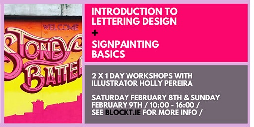 Introduction to Lettering Design + Signpainting Basics