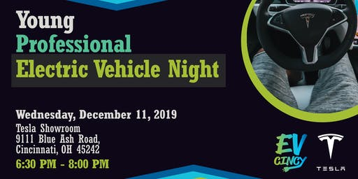 Young Professional Electric Vehicle Night