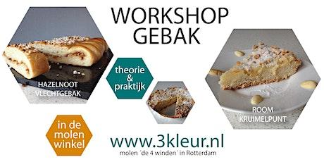 Workshop Gebak ~ room-kruimeltaart en noten-vlechtgebak tickets