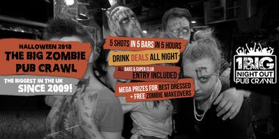 London's Biggest Halloween Zombie Pub Crawl 2020