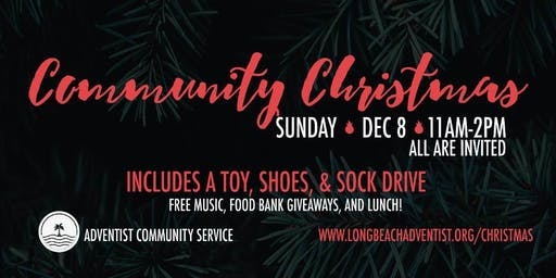 Community Christmas event. December 8th 2019. 11 a.m. to 2 pm.