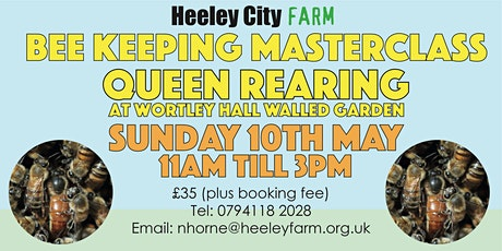 Bee Keeping Masterclass Queen Rearing at Wortley Hall Walled Garden 2020 tickets