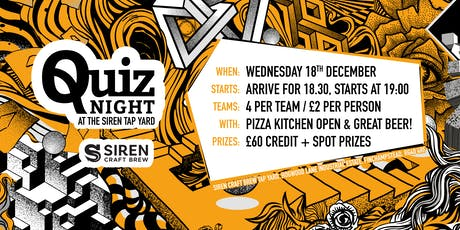 Siren Craft Brew- Quiz tickets