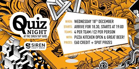 Siren Craft Brew- Quiz tickets