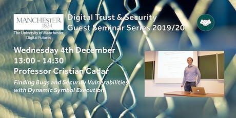 Cristian Cadar Guest Seminar tickets