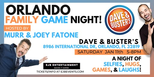 Orlando Family Game Night with Murr & Joey Fatone