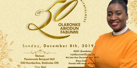 50th Birthday Celebration for Pst. Ronke Fabunmi tickets