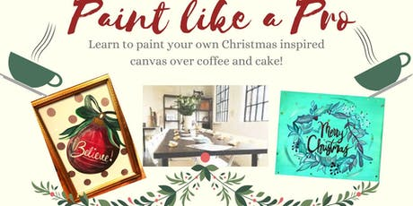 Paint like a Pro- Paint a Christmas Inspired Canvas with Calligraphy Quote tickets