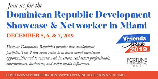 Dominican Republic Development Showcase & Networker in Miami