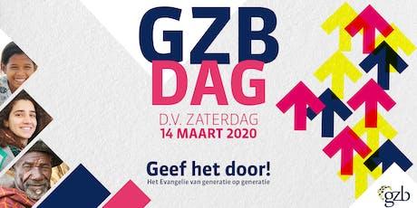 GZB-dag 2020 - Thema: Geef het door! tickets