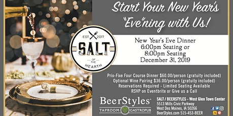 New Year's Eve Dinner - 6pm Seating tickets