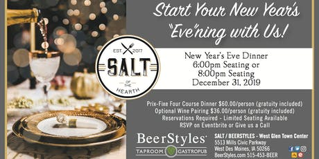 New Year's Eve Dinner - 8pm Seating tickets