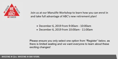 Manulife Education Workshop tickets