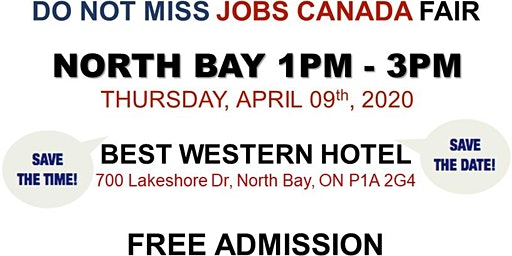 North Bay Job Fair – April 09th, 2020