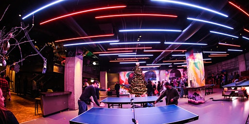 Photos with Ping Pong Santa-SPIN Seattle