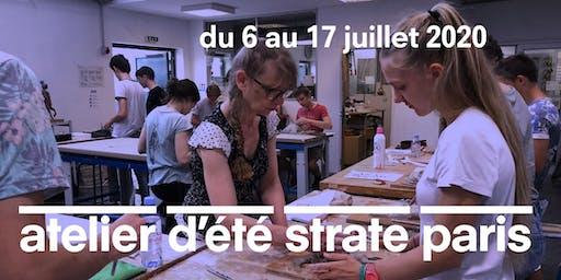 L'ATELIER D'ÉTÉ À STRATE ECOLE DE DESIGN PARIS - 2 SEMAINES À MI-JUILLET 2020