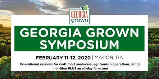 2020 Georgia Grown Symposium & Farm Tour- February 11-12, 2020