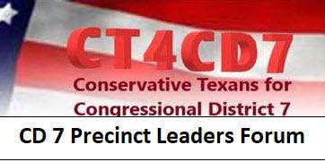 Conservative Leaders Forum to Win Back CD 7