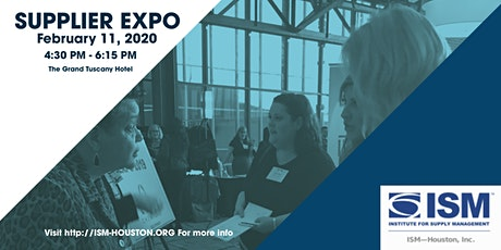 ISM-Houston February 11th 2020 - Expo 2020 Exhibitor & Sponsor Registration tickets