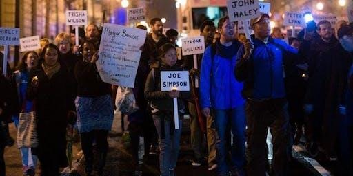 People for Fairness Homeless Memorial Vigil 2019