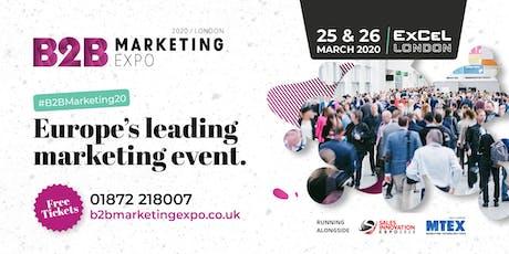 B2B Marketing Expo tickets