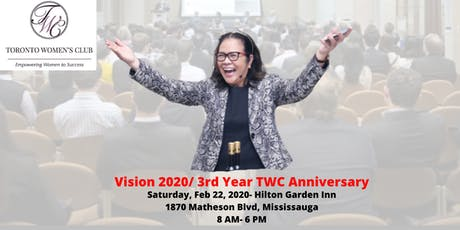 Vision 2020/  3rd Year TWC Anniversary tickets