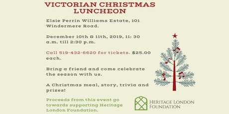 Victorian Christmas Luncheon at Elsie Perrin Williams Estate tickets