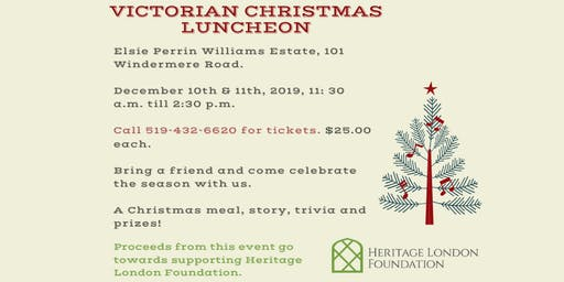 Victorian Christmas Luncheon at Elsie Perrin Williams Estate