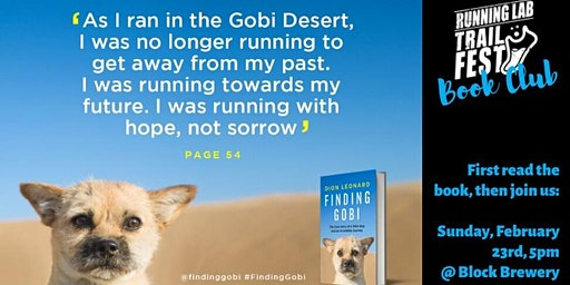 "Running Lab Book Club - ""Finding Gobi"" by Dion Leonard"