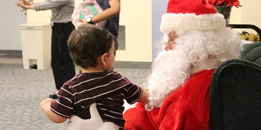 Visit from Santa at the Central Library