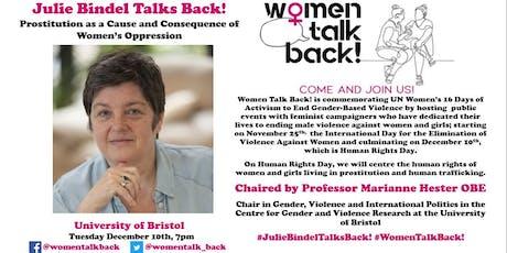 Julie Bindel Talks Back! tickets