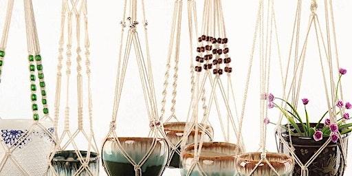 Craft Cafe: Macrame Pot Hangers