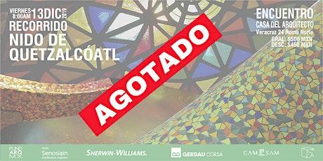 Recorrido: Nido de Quetzalcóatl boletos