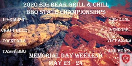 "2020 ""Big Bear Grill & Chill"" BBQ State Championship TEAM REGISTRATION tickets"