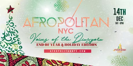AfropolitanNYC (December Edition) - End of Year & Holiday Edition tickets