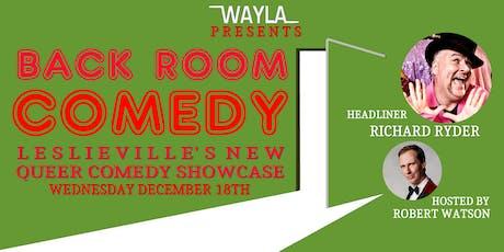 Back Room Comedy - Headliner RICHARD RYDER tickets