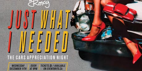 Just What I Needed: The Cars Appreciation Night! tickets