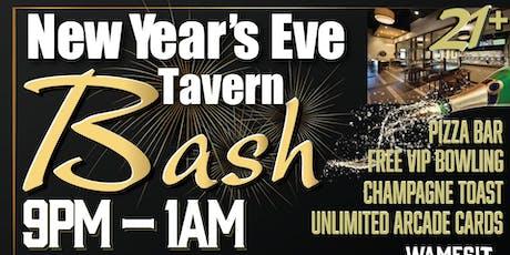 Wamesit Lanes New years eve Bash 21+ tickets