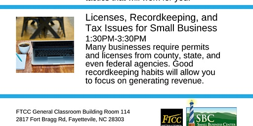 Licenses, Recordkeeping, and Tax Issues for Small Business