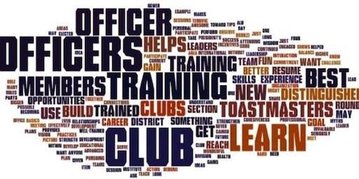 Division E makeup Club Officer Training