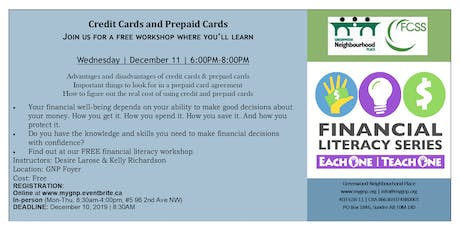 Financial Literacy Series-Each One | Teach One- Credit Cards tickets