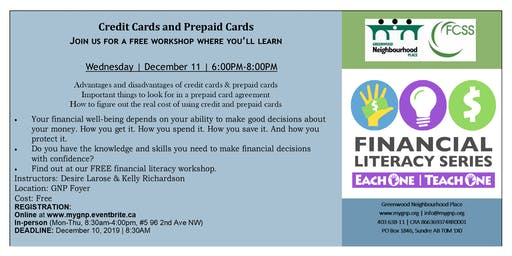 Financial Literacy Series-Each One | Teach One- Credit Cards
