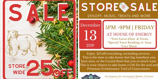 8th Annual Winter SALE 25%off Everything + Magic offerings and Treats