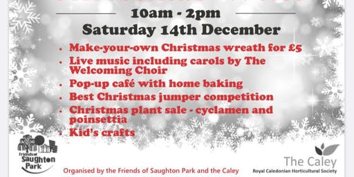 Saughton Park Christmas Event with Wreath Making
