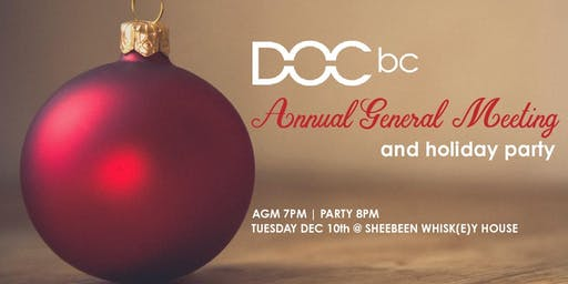DOC BC Annual General Meeting and Holiday Party