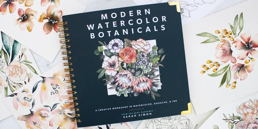 Watercolor Workshop with TheMintGardener x Rose & Lee Co in Raleigh NC